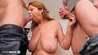 Busty Granny Threesome DP Hardcore