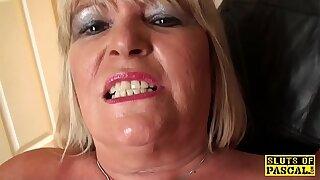 Fat british grandma masturbating and showing off skills