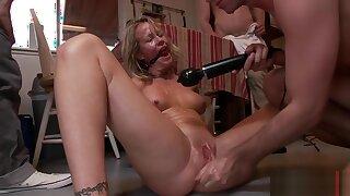 Simone Sonay gets three hard boners