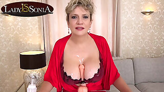 More jerk off instructions from busty mature Lady Sonia