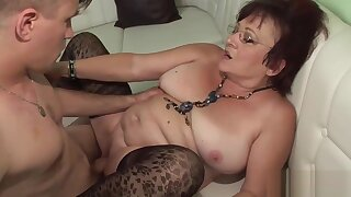 Deep boinked twat of Horny Oldie puss looks petite full of