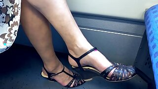 Granny leg and heel show