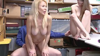 Cute Petite Teen Grand Daughter Samantha Hayes And Her Cougar Grand Mother Erica Lauren Fucked By Mall Cop