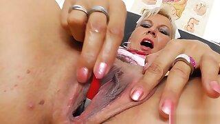 Head nurse Ellan spreading ass and pussy.