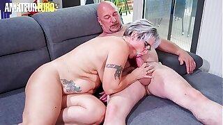 AMATEUR EURO - Horny German Granny Brigitte T. Fucks With Plumber