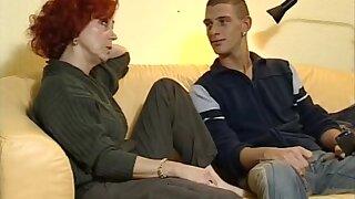 hawt aged redhead bonks with juvenile neighbor