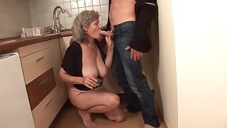 Granny mature amateur blonde