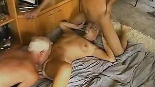 Supreme aged lady taking part in amazing sex party