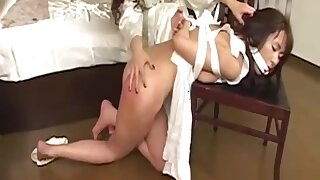 Asian Maid Dominated By Mistress Mouthgagged Spanked Stimulated With Vibrator In The Roo