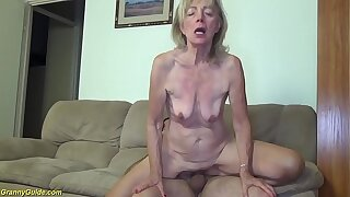 81 years old mom brutal banged by stepson