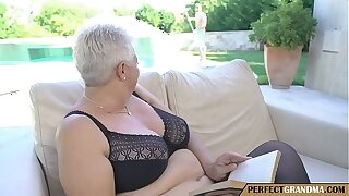chubby granny seduces the pool guy