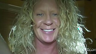 Mature woman loves being gangbanged