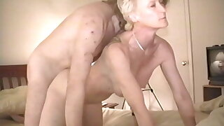 Judy Altman taking Big White Cock Bareback while cuckold films, part 4