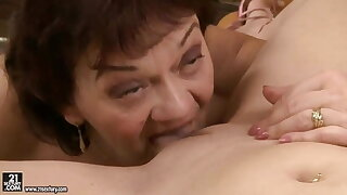 Old and young Lesbians - Nesty, Marsha