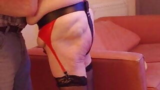 Red slave caned, whipped and hit with a carpet beater on the ass