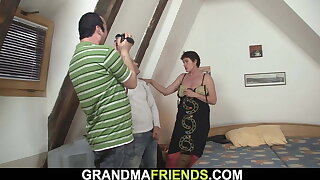 They film mature double penetration banging