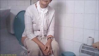 Granny on the toilet, voyeur mix
