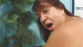 Mature BBW pounded by a hung fat black cock