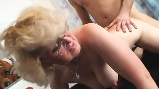 Fucked old whore with a big dick