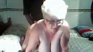 Slut Granny - face cam