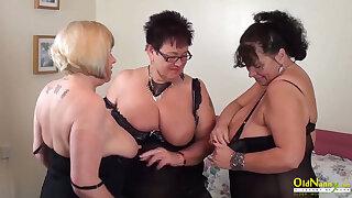 OldNannY Auntie Trisha Lesbian Party Pussy Rubbing