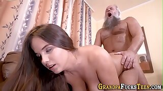 Teenager sucking old cock