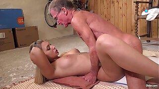 Babe fucked anal while masturbating